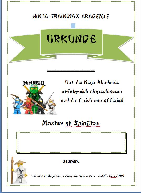 Ninja Zertifikat